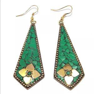 Tibetan dangling earrings